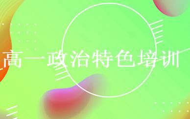 郑州高一政治特色培训课程