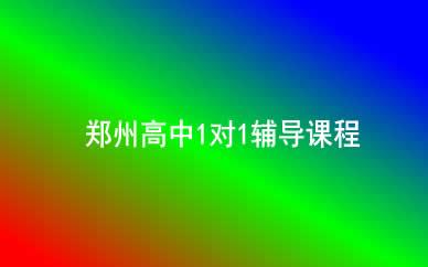 郑州高中1对1辅导课程