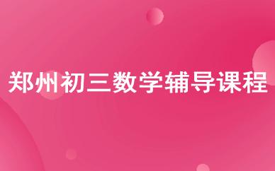 郑州初三数学辅导课程