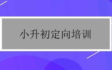 郑州小升初定向培养辅导课程