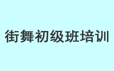 郑州街舞初级班培训