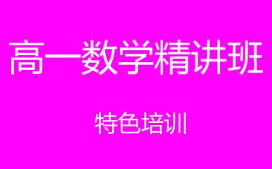 郑州高一数学提升精讲班课程